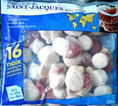 cuisiner les noix de st jacques surgel馥s petites noix de jacques avec corail surgelées auchan 250