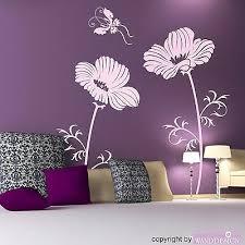 home décor items wandtattoo blume und schmetterlinge
