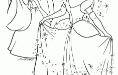 New Cinderella Coloring Pages 75 With Additional Download