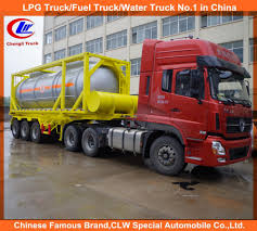 China 3 Axle 40ft 20ft ISO Chemical/ Fuel Tank Container Trailer ...