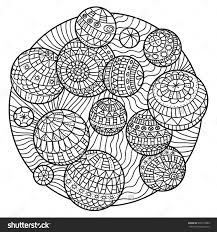 Abstract Coloring Book For Adults With Balls