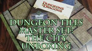 dungeons and dragons tiles master set dungeon tiles master set the city unboxing