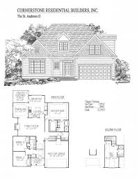 100 Cornerstone House Plans St Andrews II Home Floor Plan Apex Cary Holly Springs NC
