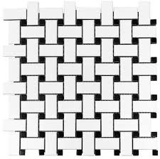 basketweave glazed ceramic mosaic floor and wall tile