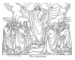 Jesus Ascension Coloring Page Sheet 2017 15446 Easter Color Pages Bible Picture