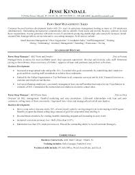 Retail Store Manager Resume Sample Management Samples Examples