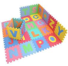 Child Soft EVA Foam Play Mat Alphabet Numbers GYM Puzzle DIY Toy
