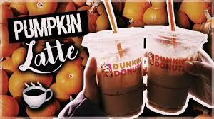 Pumpkin Swirl Iced Coffee Dunkin Donuts by Trying Dunkin Donuts Pumpkin Latte Youtube