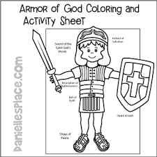 Armor Of God Coloring And Activity Sheet