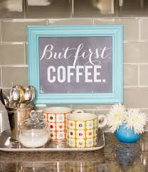 DIY Coffee Station Red Kitchen DecorRed