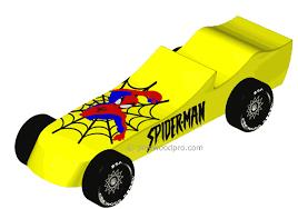 Pinewood Pro Spiderman pinewood derby 3D Design Plan INSTANT