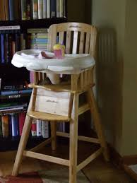 Eddie Bauer Wooden High Chair by Keeping Up With The Cases September 2009