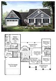 3 Bedroom Ranch Floor Plans Colors Best 25 Craftsman Style Home Plans Ideas On Pinterest Craftsman
