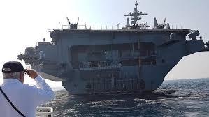 plus gros porte avion du monde le plus grand navire de guerre du monde accoste au large de haïfa