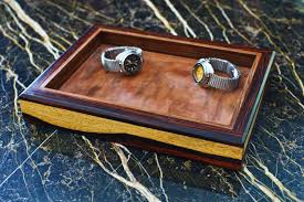 Dresser Valet Watch Box by Hand Crafted Dresser Tray Gentlemen U0027s Valet By 2darkwood