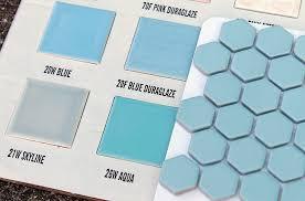 2 new porcelain hex tile floor options for your vintage pastel
