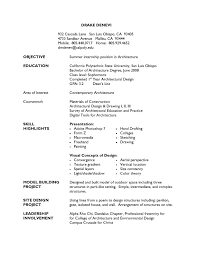 Free Sample Architecture Resume Example