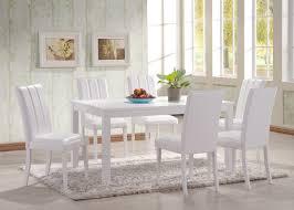 Cheap Kitchen Table Sets Uk by Hgg 7 Piece Dining Table And Chairs White Dining Table And