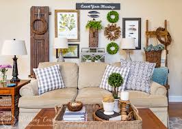 Spring Gallery Wall Brighter Sofa Pillows And A Coffee Table Vingette