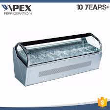 China Countertop Ice Cream Display Fridge Mini Deep Freezer For Gelato