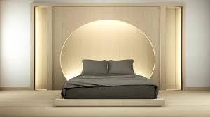 modernes zen friedliches schlafzimmer japan stil