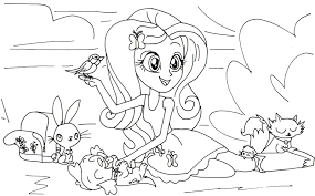 My Little Pony Equestria Girls Preschooler Coloring Page Printable For Kids MLP Pages