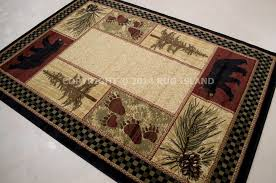 Awesome Cabin Area Rugs Decoration Pertaining To Attractive
