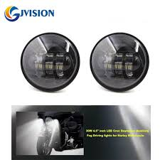 dot approved 2 pcs black 4 5 inch led passing light led fog ls