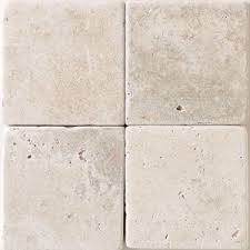 crema marfil 4x4 square marble tile tumbled and honed