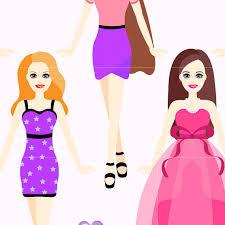Doll Digital Clip Art Fashion Dolls Clipart Design Illustration Girls Party Birthday Dress Clothing Barbie Toys Game
