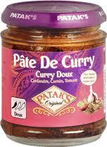 pâte de curry doux produit patak s