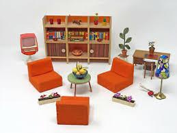 details zu konvolut puppenmöbel puppenstube vintage 60er 70er jahre retro wohnzimmer