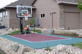 Wonderful Small Backyard Basketball Court Dimensions Photo Design ... Outdoor Courts For Sport Backyard Basketball Court Gym Floors 6 Reasons To Install A Synlawn Design Enchanting Flooring Backyards Winsome Surfaces And Paint 50 Quecasita Download Cost Garden Splendid A 123 Installation Large Patio Turned System Photo Album Fascating Paver Yard Decor Ideas Building The At The American Center Youtube With Images On And Commercial Facilities