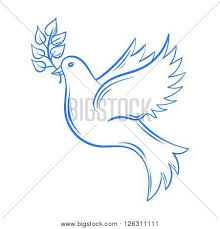 Vector Dove Hand drawn Dove of Peace illustration dove with olive branch Hand