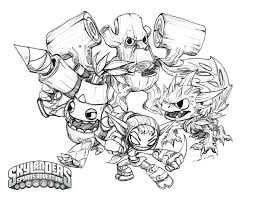 Skylanders Superchargers Coloring Sheets Giants Pages Hot Head From Speed Drawing Trap Team Food Fight