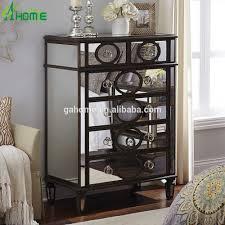 Hayworth Mirrored 3 Drawer Dresser by Furniture 32 Mirrored Glass Nightstand 22 Creative