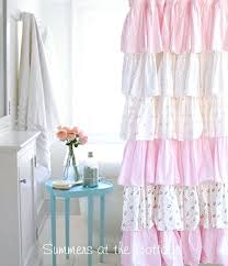 Pink Ruffle Curtains Uk by Shower Curtains Pink Pink Shower Curtains Shop The Best Deals