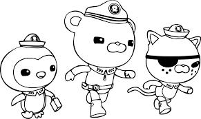 Octonauts Disney Junior Coloring Pages Coloringstar