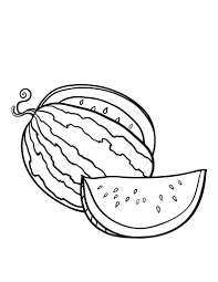 Printable Watermelon Coloring Sheet