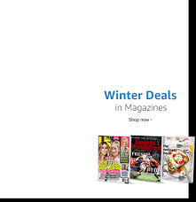 Winter Deals on best selling print magazines