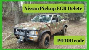 Nissan Truck P0400. Egr Delete For Non Functioning Egr Valve. - YouTube