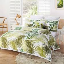 Beach Theme Bedroom With Palm Tree Bedding Tropical Palm Tree