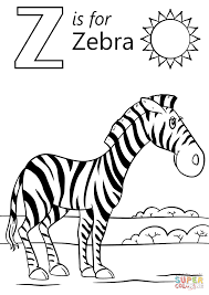 Click The Letter Z Is For Zebra Coloring Pages