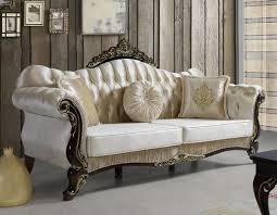 casa padrino barock wohnzimmer sofa mit glitzersteinen chagnerfarben schwarz gold 224 x 83 x h 112 cm edle wohnzimmer möbel im barockstil