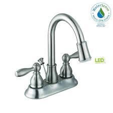Glacier Bay Bathroom Faucets Instructions by Glacier Bay Mandouri 4 In Centerset 2 Handle Led Bathroom Faucet