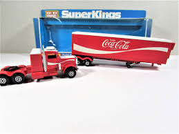 Vintage Matchbox Coca-Cola Peterbilt Refrigeration Truck Super Kings ... 164 Diecast Toy Cars Tomica Isuzu Elf Cacola Truck Diecast Hunter Regular Cocacola Trucks Richard Opfer Auctioneering Inc Schmidt Collection Of Cacola Coca Cola Delivery Trucks Collection Xdersbrian Vintage Lego Ideas Product Shop A Metalcraft Toy Delivery Truck With Every Bottle Lledo Coke Soda Pop Beverage Packard Van Original Budgie Toys Crate Of Coca Cola Wanted 1947 Store 1998 Holiday Caravan Semi Mint In Box Limited