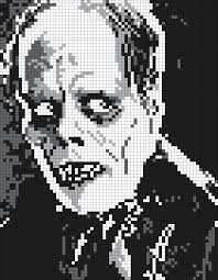 Halloween Perler Bead Projects by Pennywise The Clown From It Square Perler Bead Pattern Bead