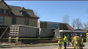 100 Truck Wrecks Videos Semi Truck Crashes Into Dental Office In Clarkston Driver
