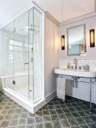 moroccan floor tiles contemporary bathroom derosa builders