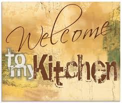 willkommen in meiner küche glas küchenrückwand